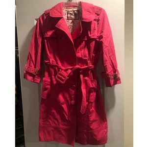 Hot Pink Juicy Couture trench coat